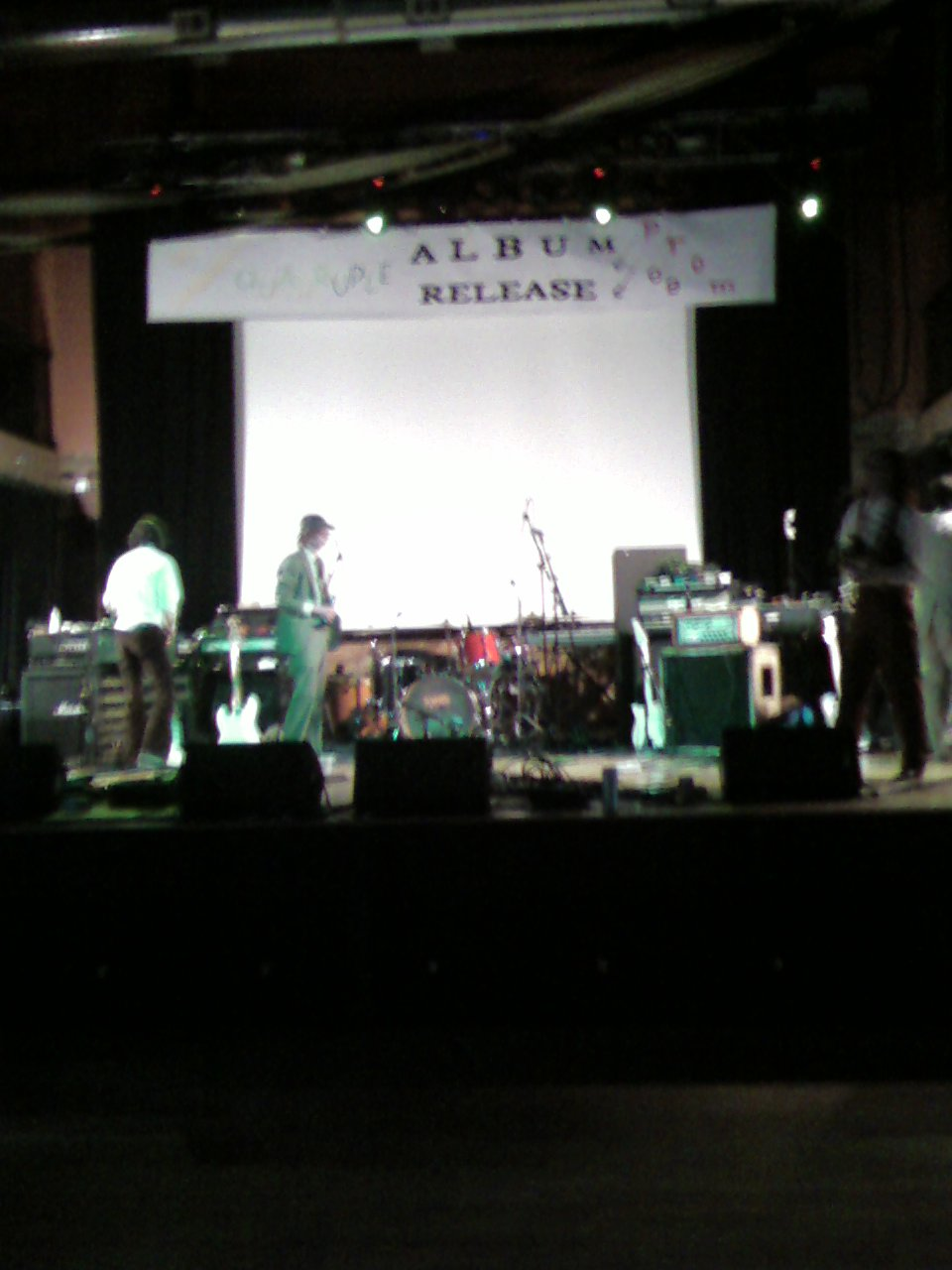 Album Release Prom stage setup