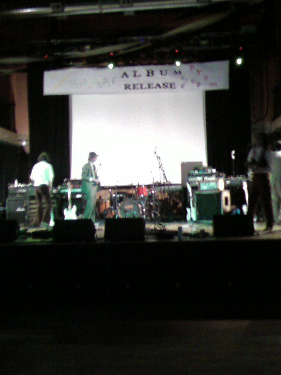 Album Release Prom stage setup