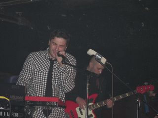 Josh Epstein on vocals, Mike Majewski on bass