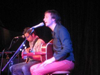 Paul Noonan of Bell X1 sings at The Ark, Ann Arbor, MI 10/11/10