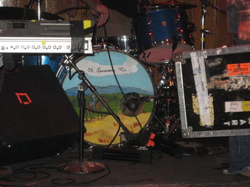 Aaron Burtch's drum kit