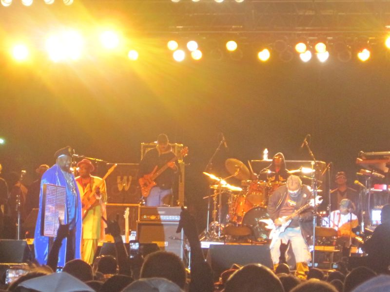George Clinton & Michael Hampton during Maggot Brain at Arts Beats & Eats 2011