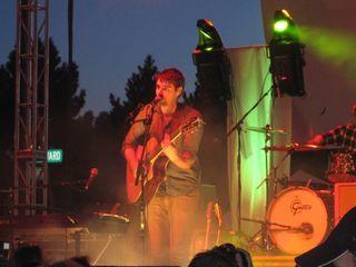 024 - Tim Baker of Hey Rosetta! on acoustic guitar. DIY Street Fair, Ferndale, MI 9-17-11