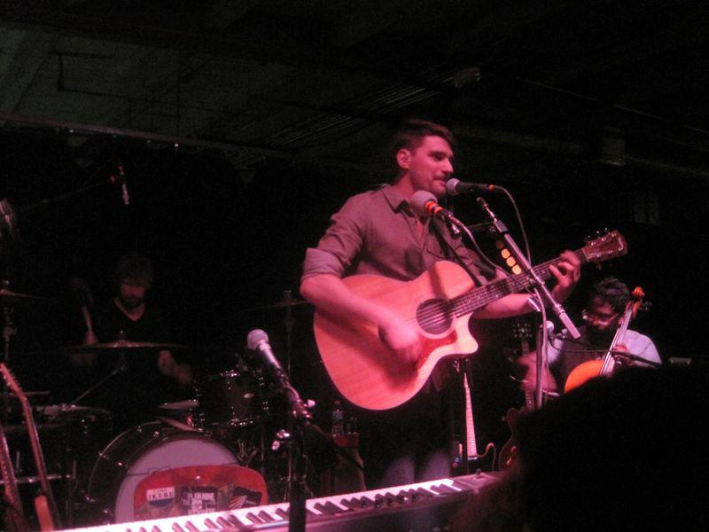015 - Tim Baker of Hey Rosetta on acoustic guitar