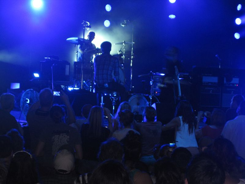 064 - Ben Gibbard on drums during We Looked Like Giants, 7-4-12 Death Cab For Cutie in Michigan